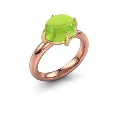 Ring Melodee 585 rosé goud peridoot 10x8 mm