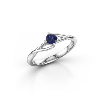 Picture of Engagement ring Paulien 585 white gold sapphire 4 mm