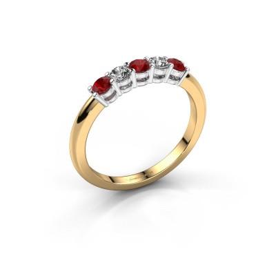 Foto van Promise ring Michelle 5 585 goud robijn 2.7 mm