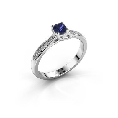 Picture of Engagement ring Mia 2 950 platinum sapphire 4.2 mm