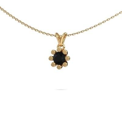 Foto van Hanger Carola 1 585 goud zwarte diamant 0.60 crt