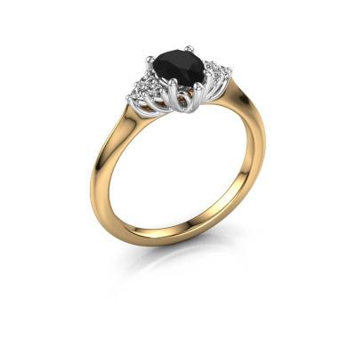 Verlovingsring Felipa per 585 goud zwarte diamant 1.115 crt