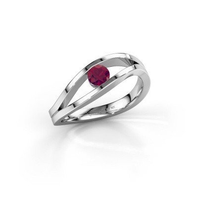 Picture of Ring Sigrid 1 925 silver rhodolite 4 mm