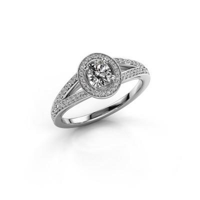 Foto van Verlovings ring Angelita OVL 585 witgoud diamant 0.703 crt