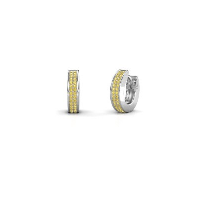 Picture of Hoop earrings Renee 2 9 mm 585 white gold yellow sapphire 1 mm