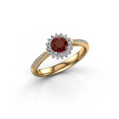 Engagement ring Tilly RND 2 585 gold garnet 5 mm