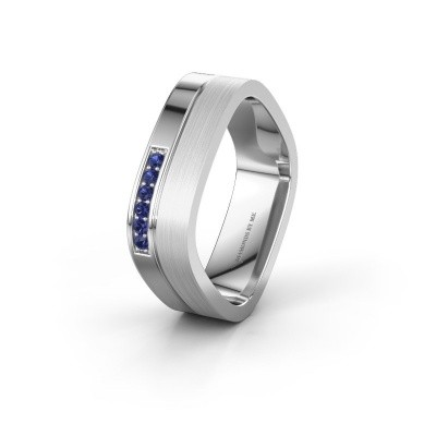 Wedding ring WH6030L16A 925 silver sapphire ±6x1.7 mm