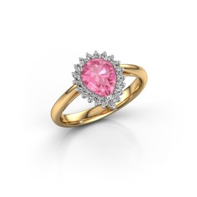 Engagement ring Tilly per 1 585 gold pink sapphire 8x6 mm