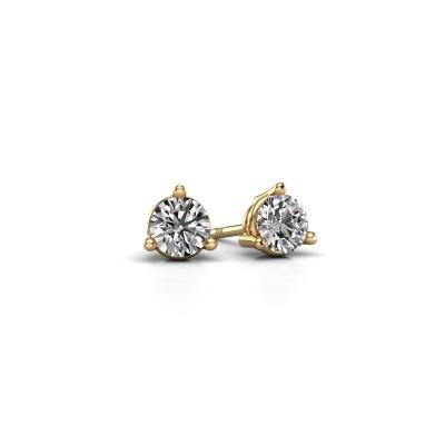 Foto van Oorstekers Somer 375 goud diamant 0.40 crt