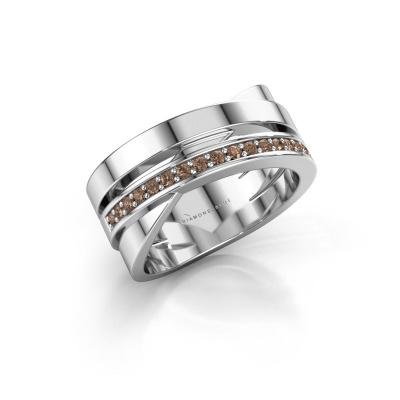 Ring Yolando 950 platinum brown diamond 0.16 crt