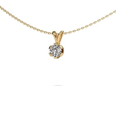 Picture of Necklace Julia 375 gold lab grown diamond 0.50 crt