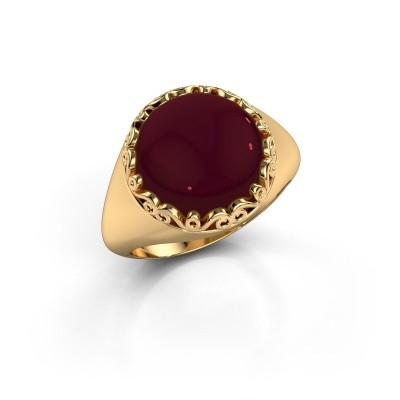 Bild von Ring Birgit 585 Gold Granat 12 mm