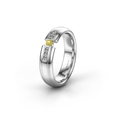 Alliance WH2128L26C 925 argent saphir jaune ±5x2 mm