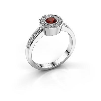 Ring Adriana 2 950 platinum garnet 4 mm