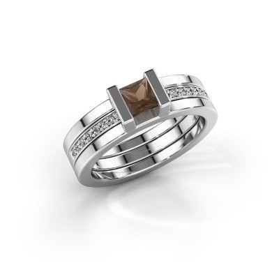 Picture of Ring Desire 925 silver smokey quartz 4 mm