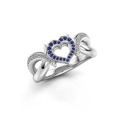 Ring Earlie 2 925 zilver saffier 1.1 mm