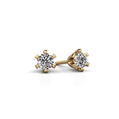 Foto van Oorstekers Shana 375 goud diamant 0.25 crt