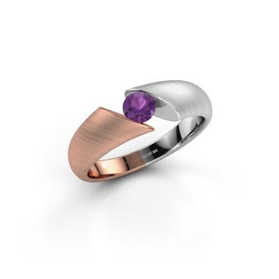 Foto van Ring Hojalien 1 585 rosé goud amethist 4.2 mm