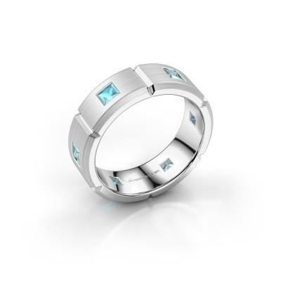 Foto van Heren ring Steve 925 zilver blauw topaas 3 mm