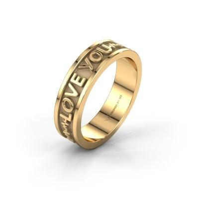 Trouwring Namering 3 585 goud ±6x1.7 mm