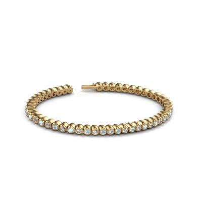 Foto van Tennisarmband Bianca 2.4 mm 375 goud aquamarijn 2.4 mm