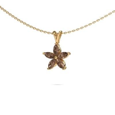Foto van Ketting Sylvana 375 goud bruine diamant 0.14 crt