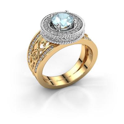 Ring Joy 585 goud aquamarijn 6.5 mm