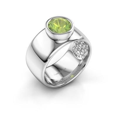 Ring Klarinda 925 silver peridot 7 mm
