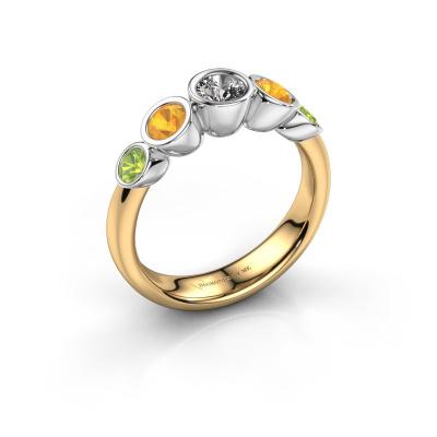 Ring Lizz 585 gold lab grown diamond 0.25 crt