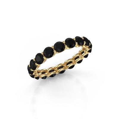 Foto van Ring Kirsten 3.4 375 goud zwarte diamant 3.240 crt