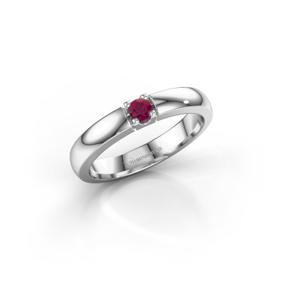 Picture of Engagement ring Rianne 1 585 white gold rhodolite 3 mm