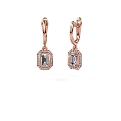 Foto van Oorhangers Noud EME 375 rosé goud lab-grown diamant 0.70 crt