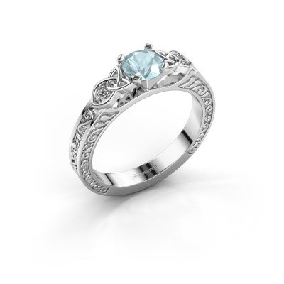 Picture of Engagement ring Gillian 585 white gold aquamarine 5 mm