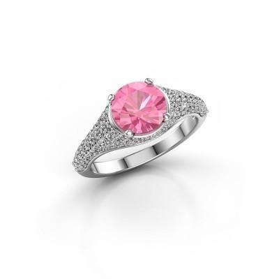 Foto van Ring Lovella 925 zilver roze saffier 7 mm