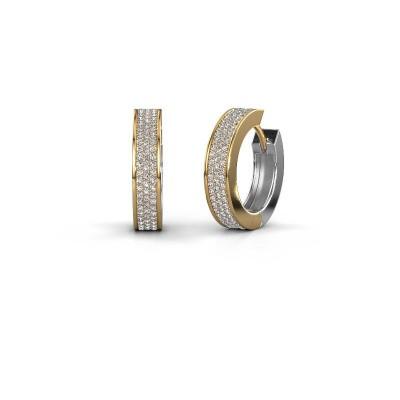 Creolen Renee 6 12 mm 585 goud diamant 1.12 crt