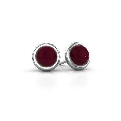 Picture of Stud earrings Jodi 925 silver garnet 6 mm