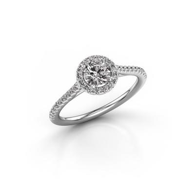 Engagement ring Seline rnd 2 925 silver diamond 0.655 crt
