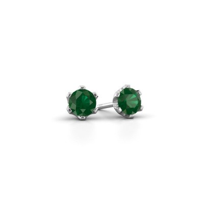 Picture of Stud earrings Fran 950 platinum emerald 4.7 mm