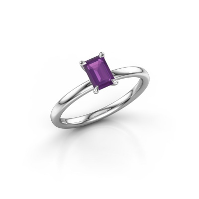 Picture of Engagement ring Crystal EME 1 950 platinum amethyst 6x4 mm