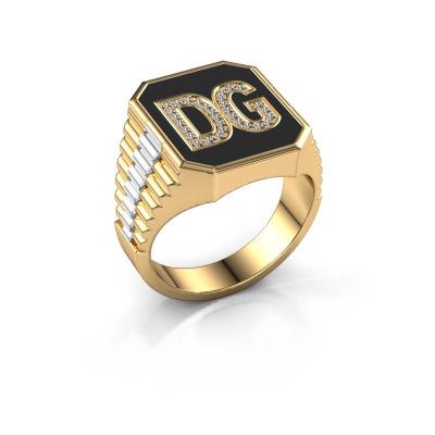 Foto van Rolex stijl ring Stephan 3 585 goud lab-grown diamant 0.005 crt