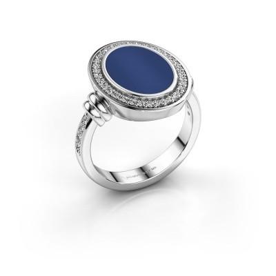 Foto van Heren ring Servie 3 925 zilver lapis lazuli 14x10 mm