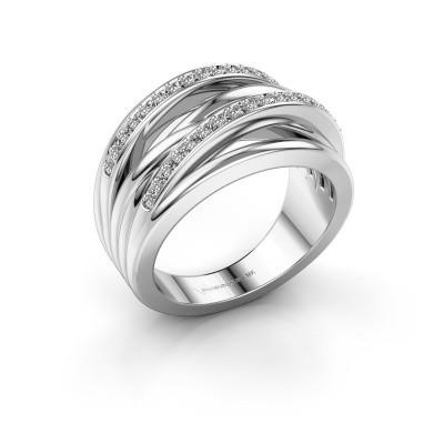 Foto van Ring Annabel 2 925 zilver zirkonia 1.2 mm