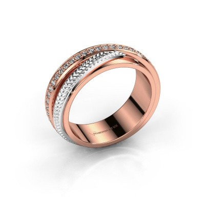 Trouwring Norah 585 rosé goud diamant ±6x2.4 mm