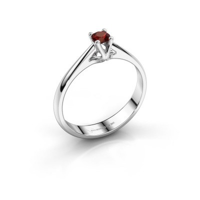Engagement ring Janna 1 585 white gold garnet 3.4 mm