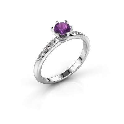Picture of Engagement ring Tiffy 2 925 silver amethyst 4.7 mm