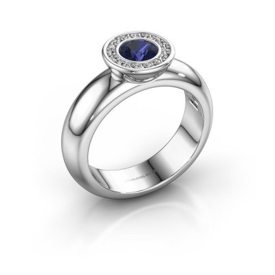 Picture of Stacking ring Anna 585 white gold sapphire 5 mm