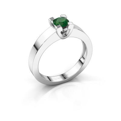 Promise ring Anne 1 950 platina smaragd 4.7 mm