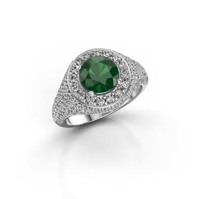Foto van Ring Dayle 925 zilver smaragd 7 mm