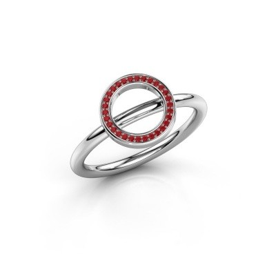 Bague Shape round large 375 or blanc rubis 0.8 mm