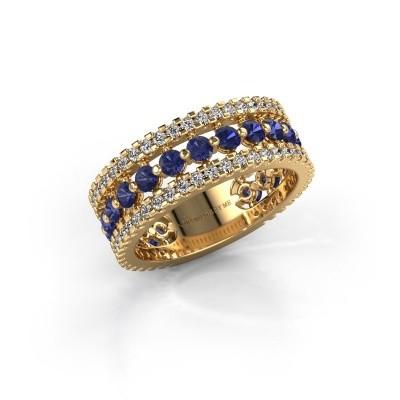 Verlovingsring Elizbeth 2 375 goud saffier 2.4 mm